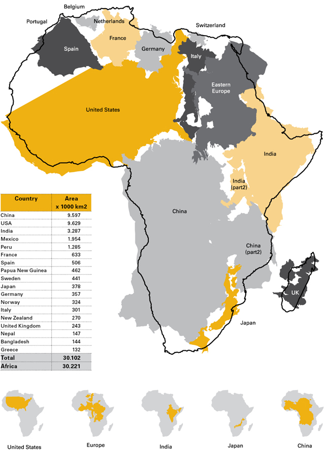 Chart 1: The True Size of Africa
